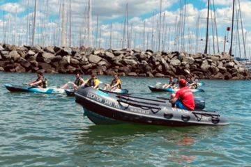 Balade canoë / paddle en mer à la rochelle avec moniteur