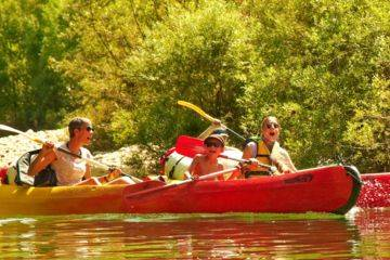 Canoe kayak ride on the hérault family 6km: 2h + 6 years