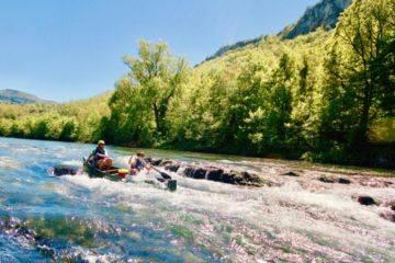 Descente du viaduc en canoë canadien sur 7 km