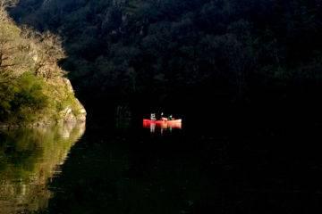 Descente nocture en canoë canadien et apéro sur l'eau