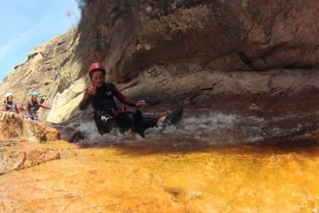 Canyoning propriano baracci : playful and fun