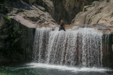 "Multi-activity trip ""sensations cocktail"" : canyoning, hiking, kayak, climbing"