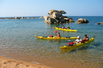"Multi-activities 1 week family trip ""fantastic cocktail"" : sea-kayaking, hiking and canyoning"
