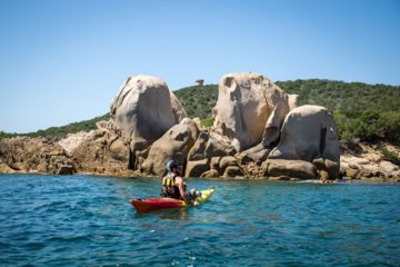 Kayaking ajaccio 1/2 day guided tour at isolella peninsula