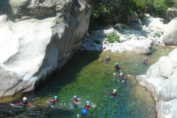 Full day aquatic hiking canyon vecchio : wild and wonferdul setting