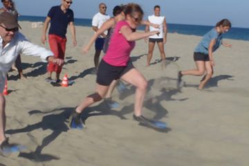 Beach trophy sur la plage