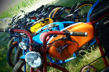 Tapas à vélo vintage électrique