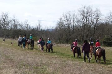 Pony ride in ardeche