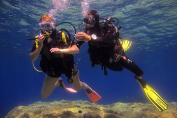 First dive in sainte-maxime