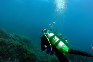 Enriched air (nitrox) fun dive in sainte-maxime