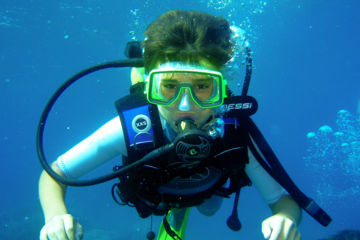 Junior 3 dives beginner package in sainte-maxime