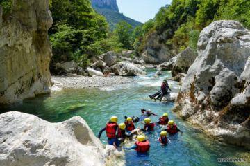 Sporty day aqua trekking trip