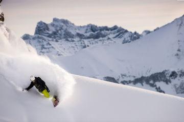 Snowboard off piste