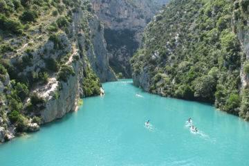 Journée canoë sur le lac de sainte-croix et les gorges du verdon
