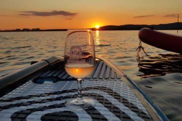 Balade paddle dégustation de vins à frontignan