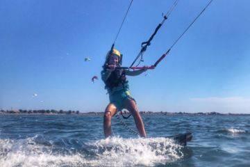 Cours particuliers de kitesurf : enfants à frontignan