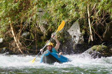 Kayak (air boat), parcours sensations, demi-journée