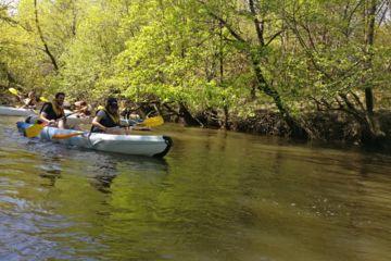 Demi journée, descente en canoë kayak sur la leyre (15 km - 3h30 - à partir de 13€/pers.)