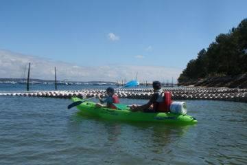 Les parcs ostréicoles du bassin d'arcachon en kayak