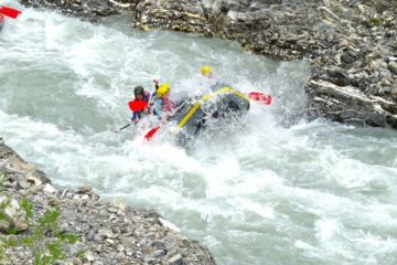 Rafting discovery on ubaye river