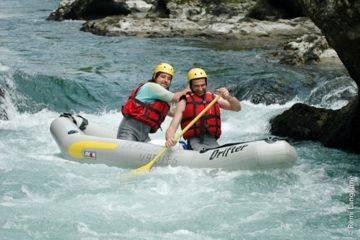 Canoë-raft/kayak-raft demi journée sur le haut gave d'ossau - parcours initiation laruns-lac de castet