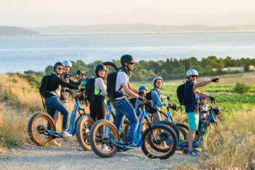 Group, ce, seminars: gruissan outings in all terrain electric trott, and tastings and visits.
