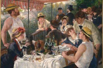 Déjeuner des canotiers (suivant le tableau de pierre auguste renoir