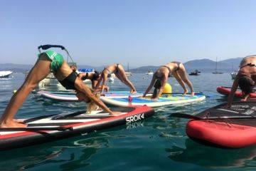 Yoga paddle in campomoro