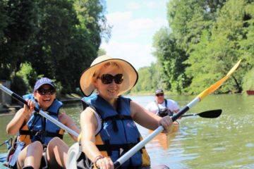 Canoe at auvers n/a, l'ile aux peintres, duration 1h00