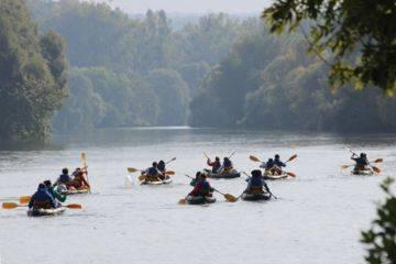 Canoe, in the wake of l.r stevenson - 15 km- day